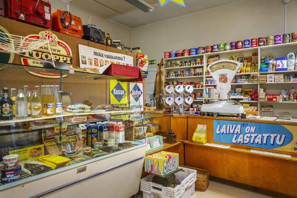 Wanhan mestan museo, vanhan ajan kauppa tuotteineen