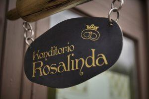 Konditoria Rosalindan nimikyltti.