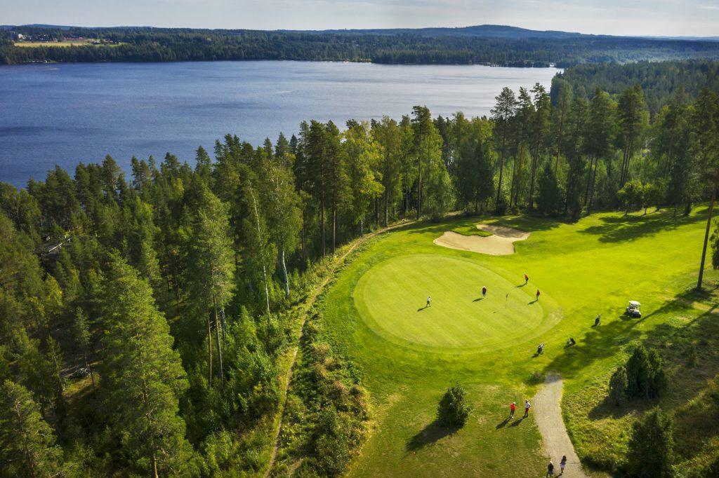 Karelia Golf, golfkenttää ylhäältä kuvattuna.