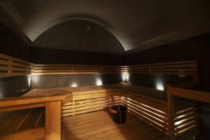 Jakokosken Tähtikallion sauna sisältä.